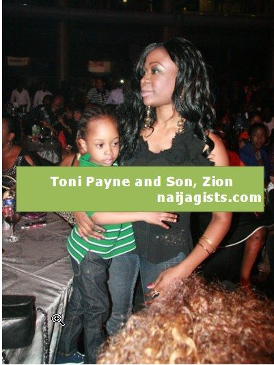 toni payne and son zion at 9ice concert