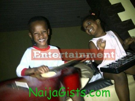 2face's kids - Zii and step sister Isabella
