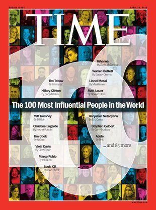 100 most influential people in the world 2012