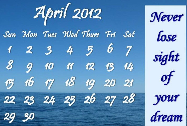 welcome to April 2012