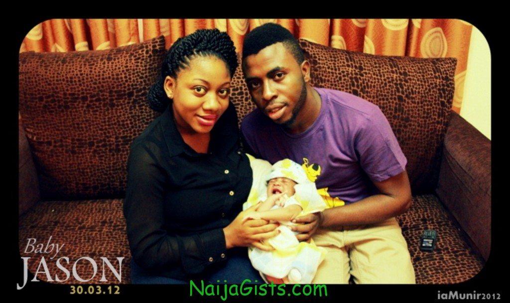 samklef wife and baby boy jason