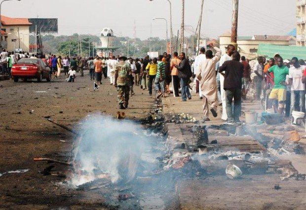 easter sunday bomb blast in kaduna boko haram