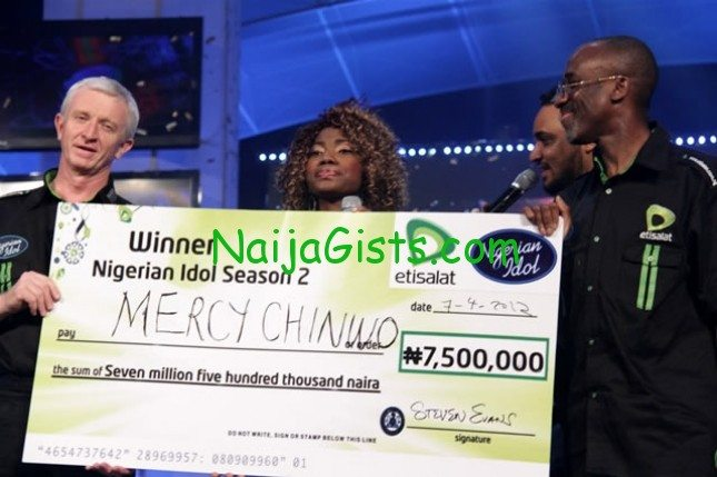 nigerian idol season 2 winner mercy chinwo