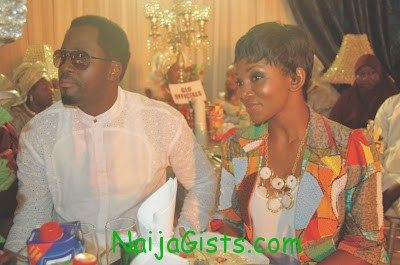 desmond elliot and genevieve nnaji at funke akindele wedding