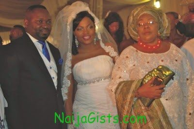 funke akindele white wedding