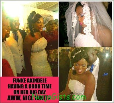 Funke-Akindele-Church-white-Wedding