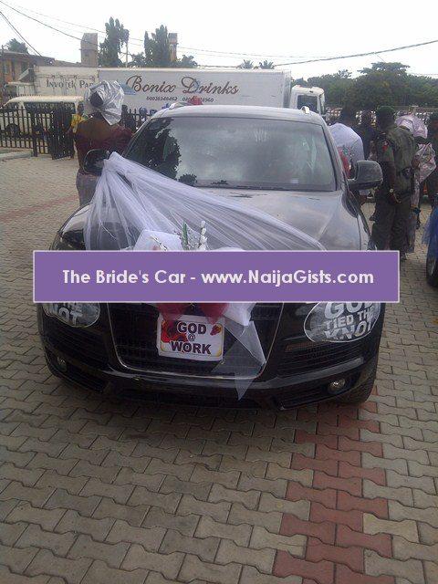car used for funke akindele wedding