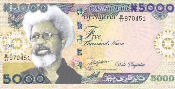 nigerian 5000 Naira note