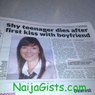shy teenager dies after first kiss with boyfriend