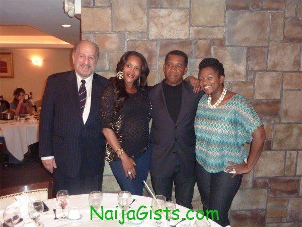 Bern Cohen, Vivica .A. Fox, Tony Abulu & Ebbe Bassey