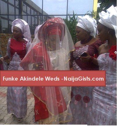 funke akindele wedding photos