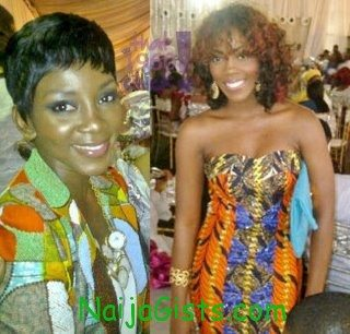 genevieve nnaji at funke akindele wedding