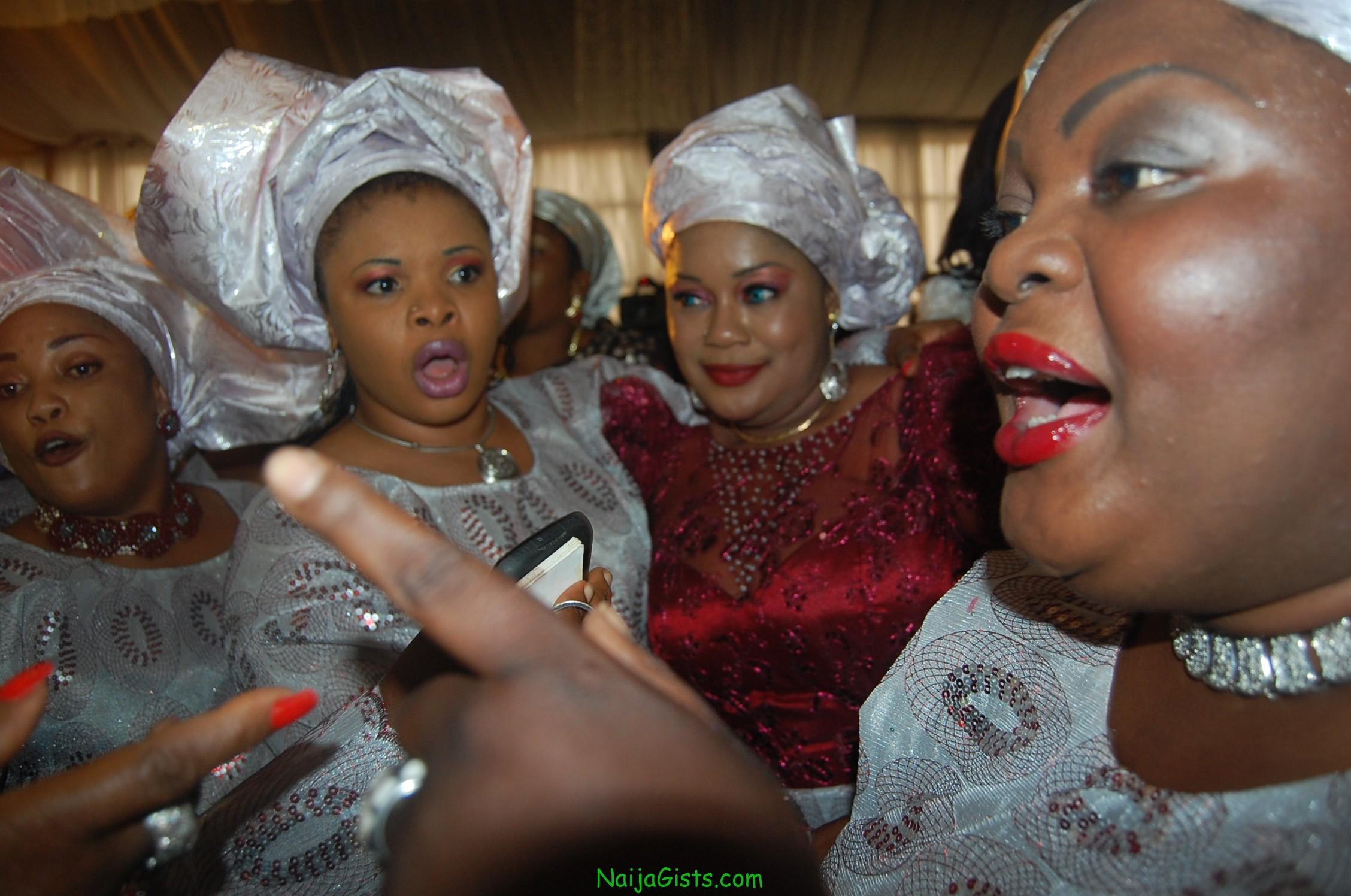 nigerian actresses at funke akindele wedding