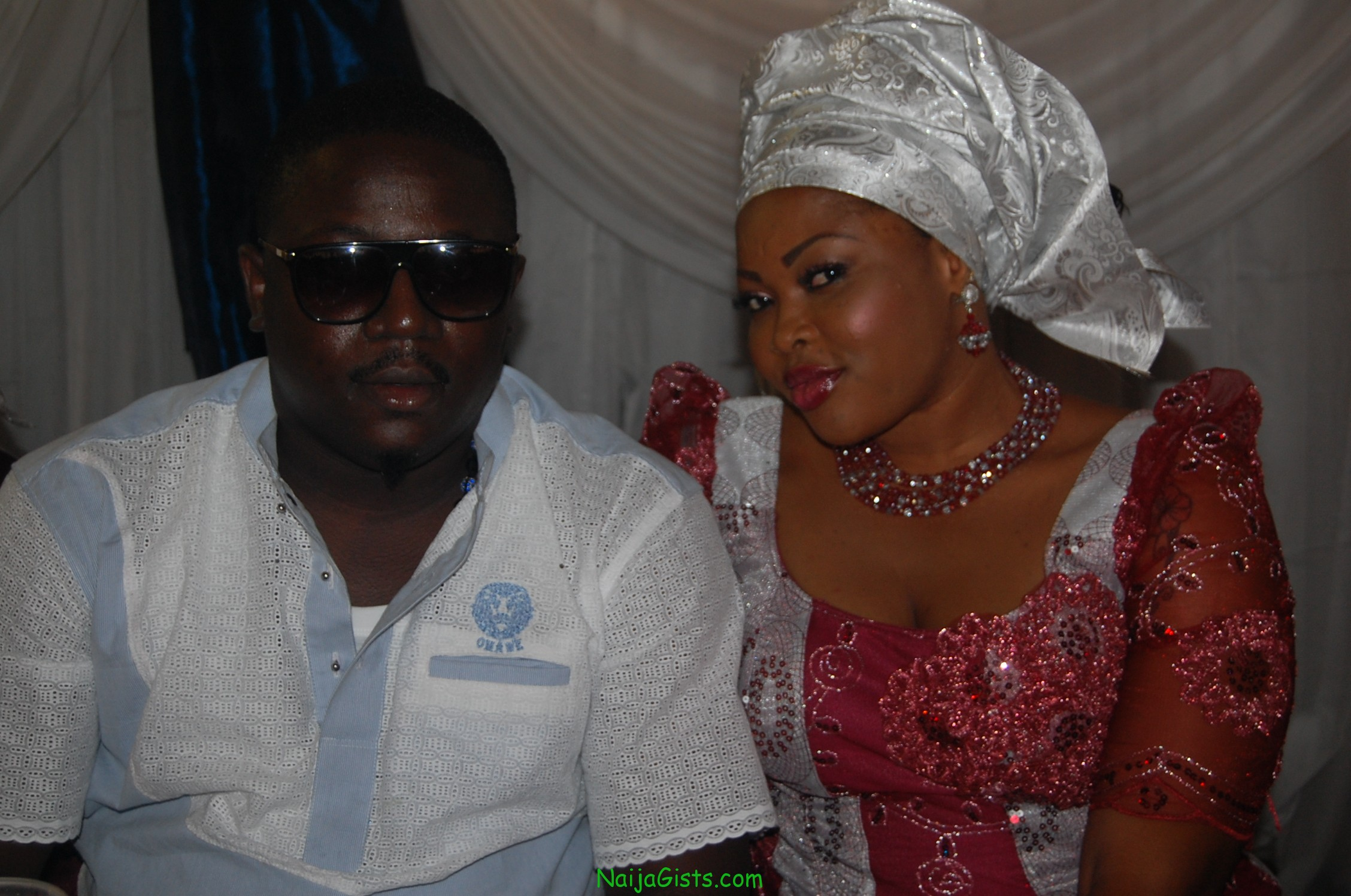 nigerian movie stars at funke akindele wedding
