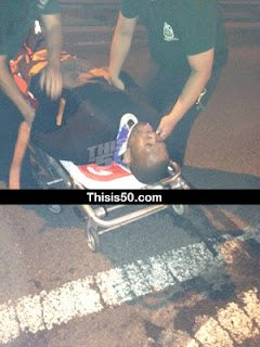 rapper 50 cent car crash