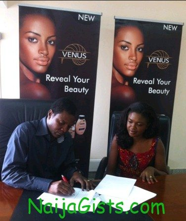 nollywood actress omoni oboli venus endorsement deal