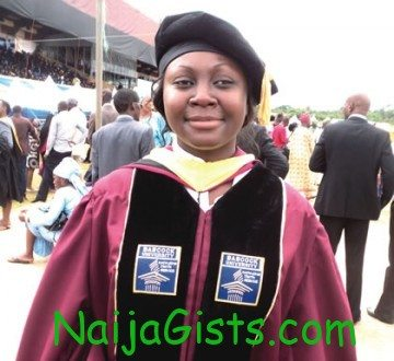 25 year old babcock University PhD holder