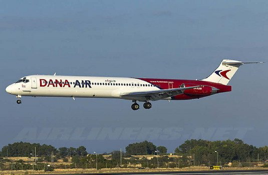 dana air operational license has been suspended in nigeria