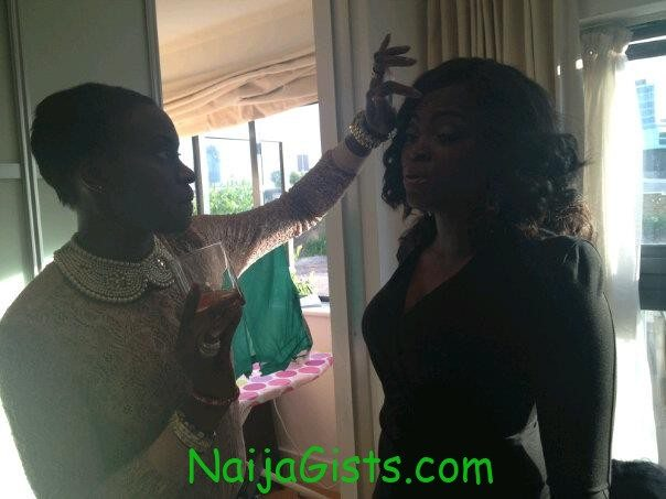 funke akindele on honeymoon in london