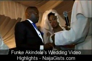wedding video of funke akindele