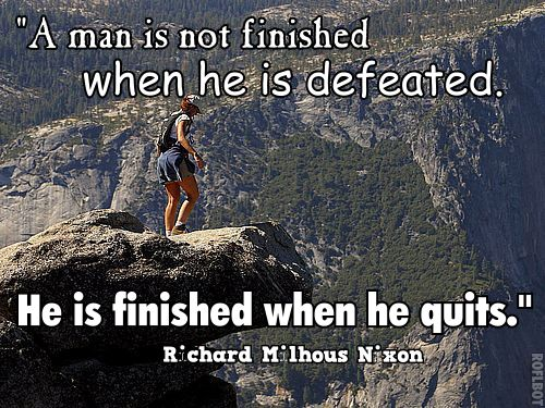 inspirational quote about not quitting