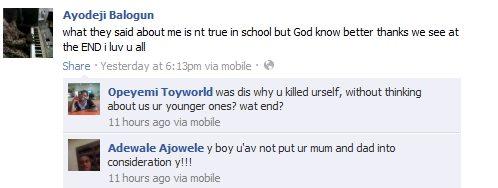 ayodeji balogun facebook suicide nigeria
