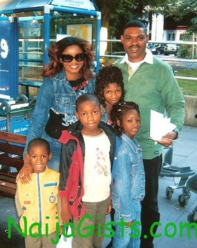omotola jalade and family
