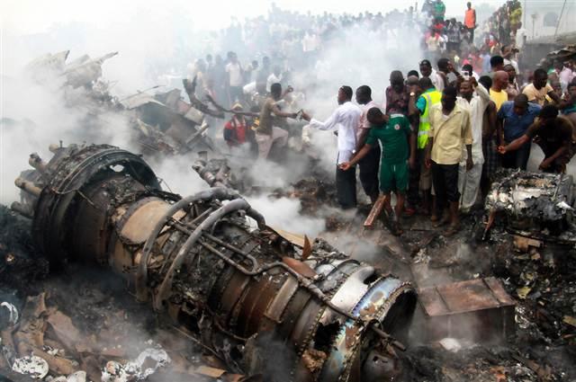 dana airplane lagos crash wreckage