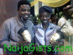 Kunle afolayan and tunde kelani receive YMAA Award