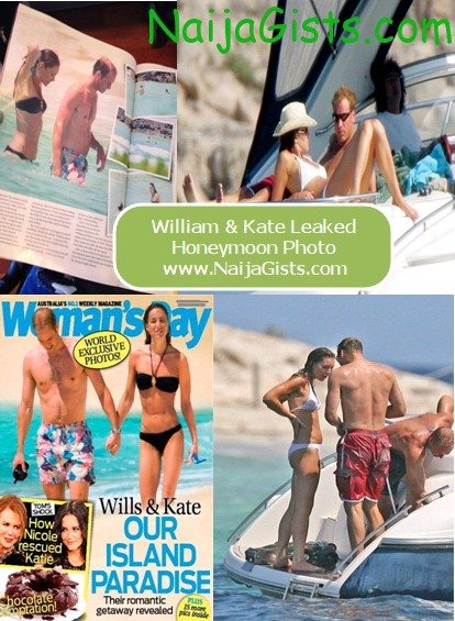 prince william and kate leaked honeymoon photos