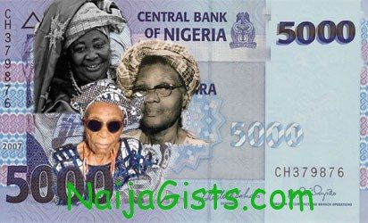 5000 naira note nigerian bill