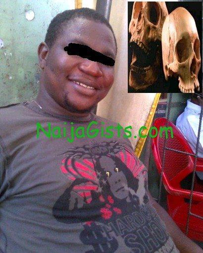 Matthew Akinode human skull
