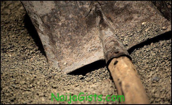 man buries woman alive nigeria