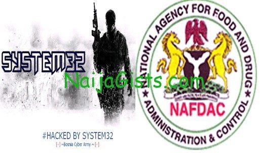 nafdac website hacked