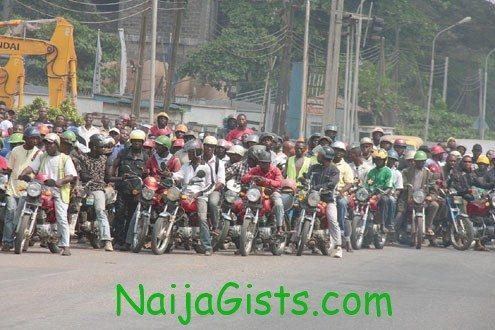 okada riders protest lagos