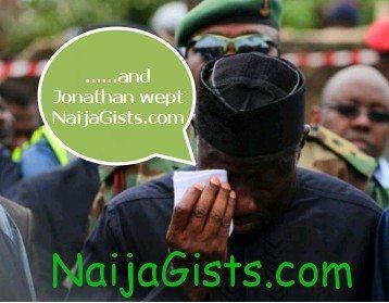 president jonathan weeping