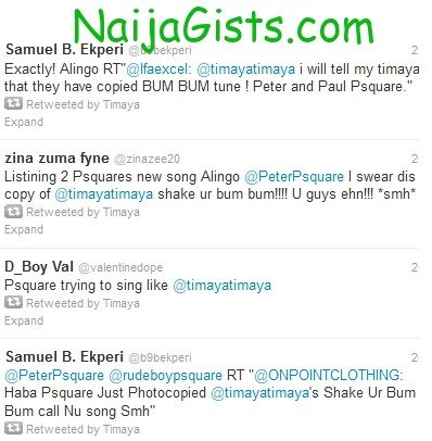 psquare copied timaya tune