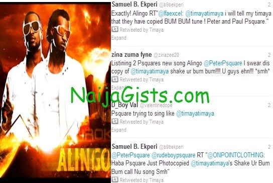 psquare copied timaya song