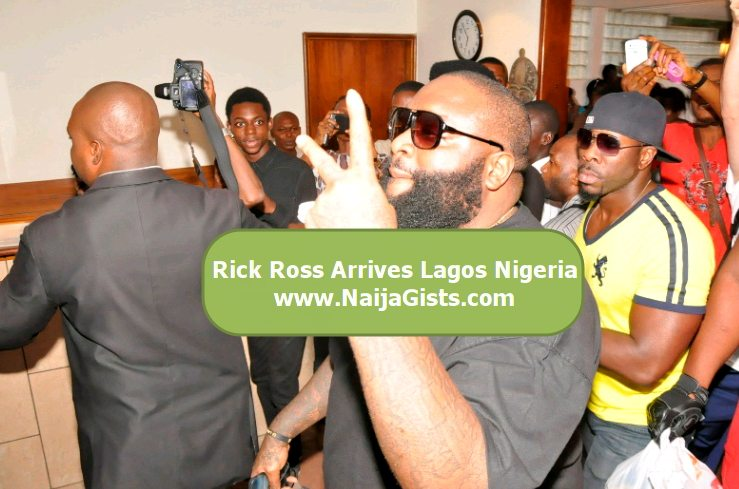 rick ross in lagos nigeria