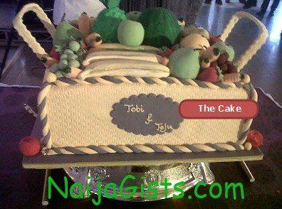 teju babyface wedding cake