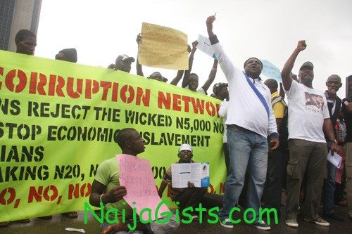 5000 naira note protest