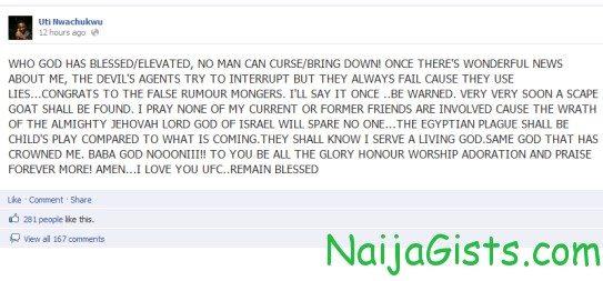 Uti Nwachukwu latest news
