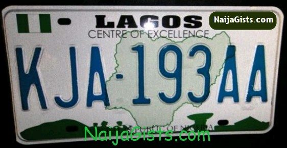 lagos bans number plates