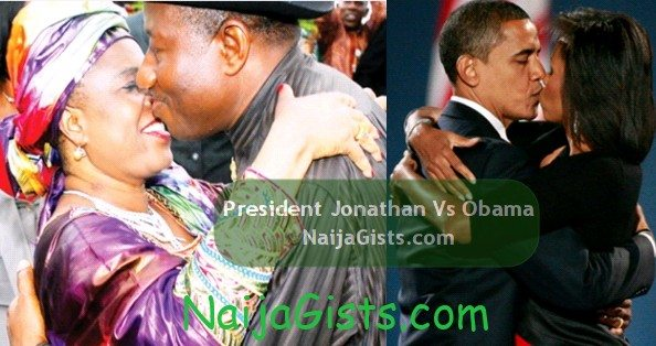 president jonathan vs obama kissing
