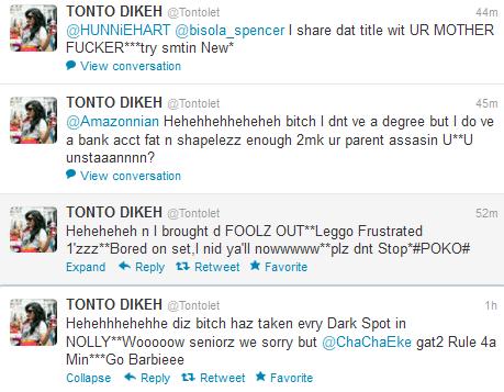 tonto dikeh attacks twitter fans