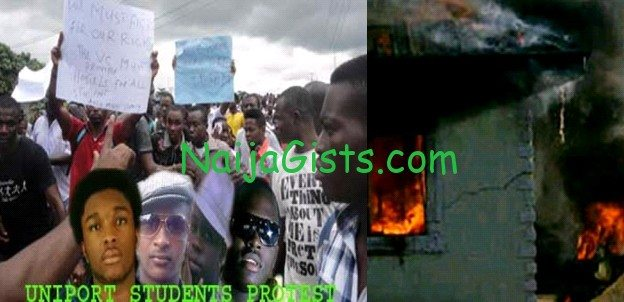 uniport students protest aluu
