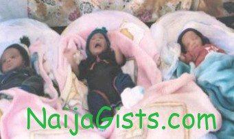 woman triplets 12 times