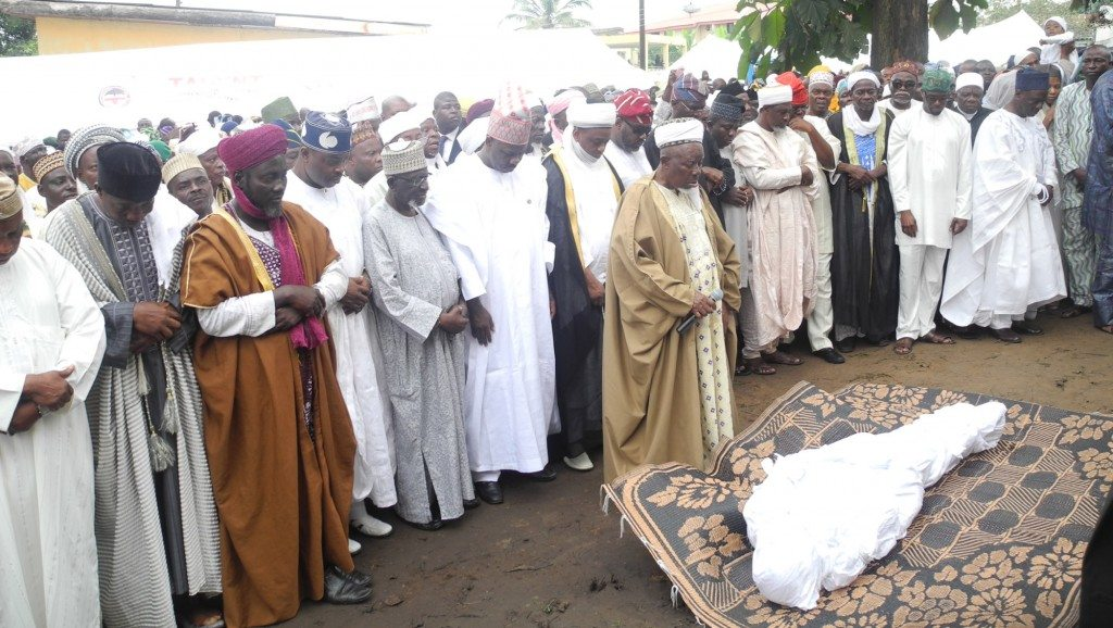 lateef adegbite's corpse buried
