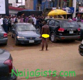 yahoo boy runs mad in ikeja