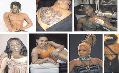 Nigerian Celebrities With Tattoos